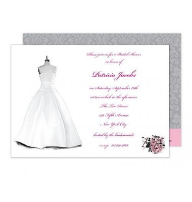 Bridal Shower Invitations, Wedding Gown, Bonnie Marcus