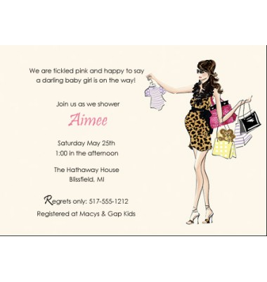 Baby Shower Invitations, Chic Shopper
