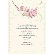 Baby Shower Invitations, Naping Girl, Bubbles N Bows