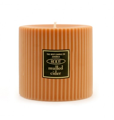 Root 3x3 Grecian Pillar Candle Mulled Cider