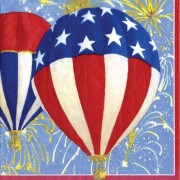 Caspari 4th Of July Cocktail Napkins, Balloons