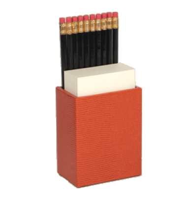 Orange Lizard Pencil Caddy, Caspari