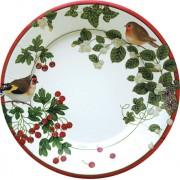 Caspari, Holiday Dessert Plates, Winter Birds