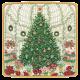 Caspari, Holiday Dessert Plates, Christmas At The Garden