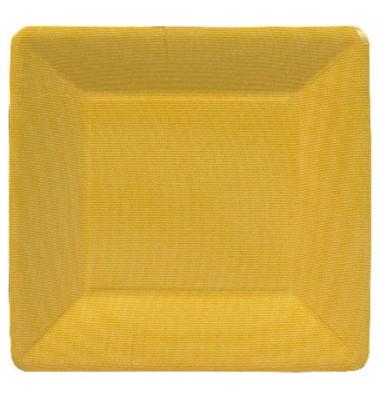 Caspari, Dessert Plates, Yellow Square