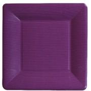 Caspari, Dessert Plates, Purple Square