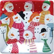 Caspari, Holiday Dessert Plates, Frosty Folks
