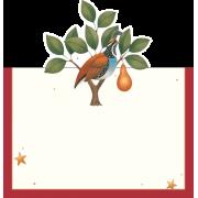 Days Of Christmas Place Cards, Caspari