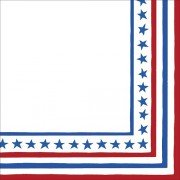 Caspari 4th Of July Napkins, Stars and Strips, Luncheon Napkins