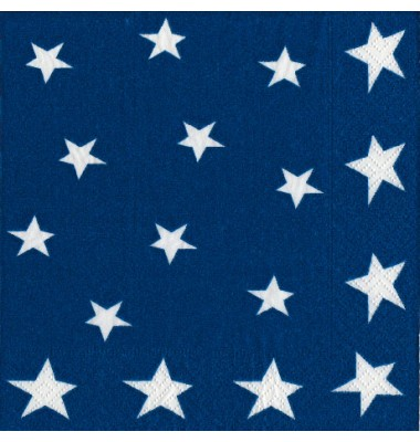 Caspari, 4th Of July Cocktail Napkins, Stars And Stripes