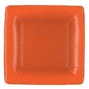 Caspari, Dessert Plates, Orange Square