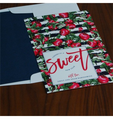 Jewish New Year Cards, Cheers to Sweet, Checkboard