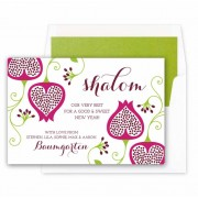 Jewish New Year Cards, Shalom Floral, Checkerboard