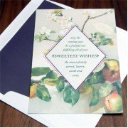 Jewish New Year Cards, Apple Blossom, Checkerboard