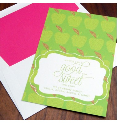 Jewish New Year Cards, Apple of My Eye, Checkerboard