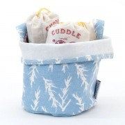 Small Canvas Bucket - Blue
