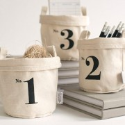 Set of 3 Cotton Canvas Bucket
