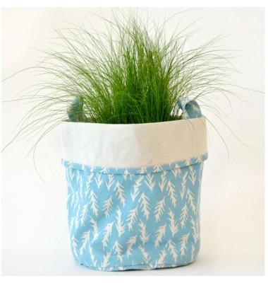 Large Canvas Bucket - Blue