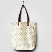 Metallic Gold Dots Tote