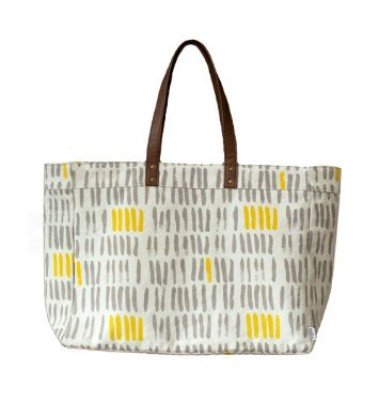 Vertical Strokes Grey Carryall, Chewing The Cud