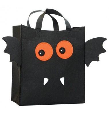 Halloween Treat Bags, Going Batty Felt Bag