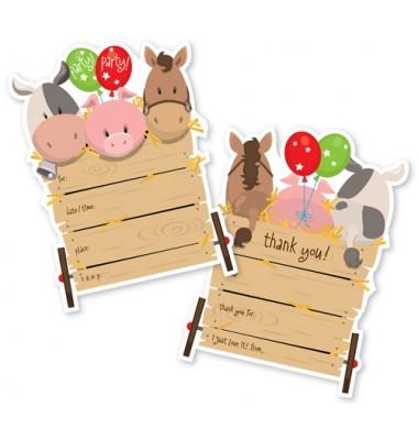 Fill In Invitations, Farm Animals, Paper So Pretty