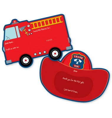 Fill In Invitations, Fire Truck, Paper So Pretty