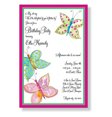 Butterfly Invitations, Butterfly Awash, Inviting Company