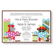 Couples Shower Invitations, His and Her Shower, Inviting Company
