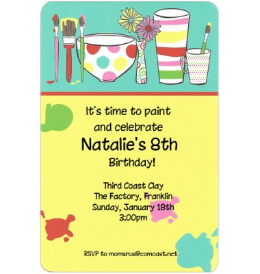 Art Invitations, Painting Pots, Inviting Company