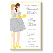 Bridal Shower Invitations, Bridesmaid Duo,. Inviting Company