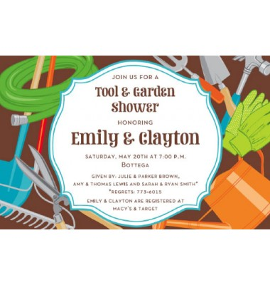 Tool And Garden Shower Invitations, Outdoorsy, Inviting Company