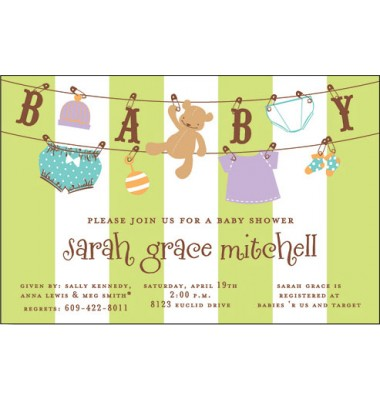 Baby Shower Invitations, Baby Line, Inviting Company