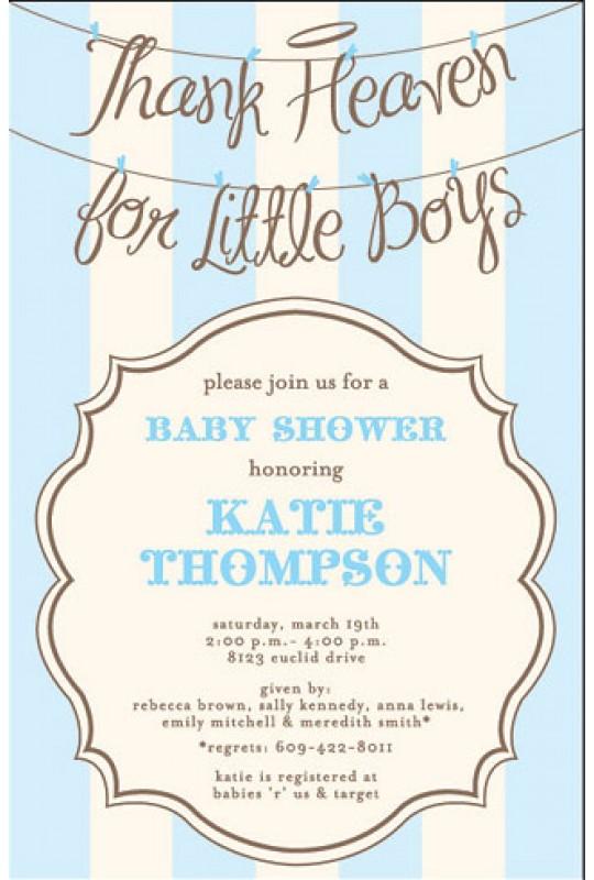 Baby Shower Invitations Angel Boy Inviting Company