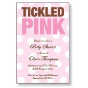 Baby Shower Invitations, Tickled Pink, Inviting Company