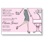 Sip And See Invitations, Sip And See Pink, Inviting Company