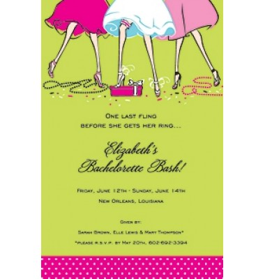 Bridal Shower Invitations, Haunte Girls, Mindy Weiss