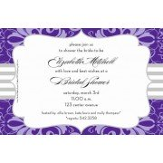 Lilac Brocade Party Invitations, Inviting Company