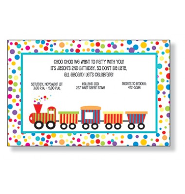 Train Invitations, Choo Choo, Inviting Company