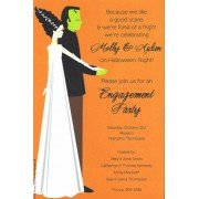Halloween Invitations, Frankenstein Couple, Inviting Company