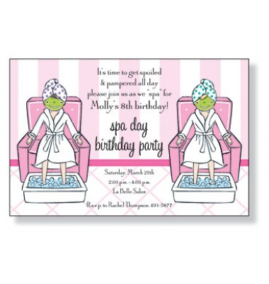 Spa Invitations, Spa Day, Inviting Company