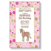 Pink Pony Invitations, Magic Pony, Inviting Company