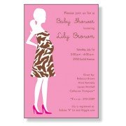 Baby Shower Invitations, Zebra Mom Pink, Inviting Company