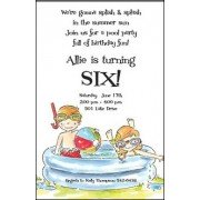 Pool Party Invitations, Swim Party, Inviting Company