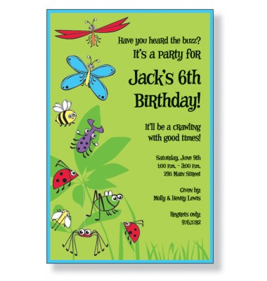Bugs Galore Party Invitations, Inviting Company