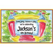 Bounce House Invitations, Bouncing Good Time, Inviting Company