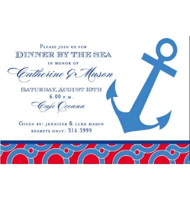 Nautical Invitation, Anchor, Inviting Company
