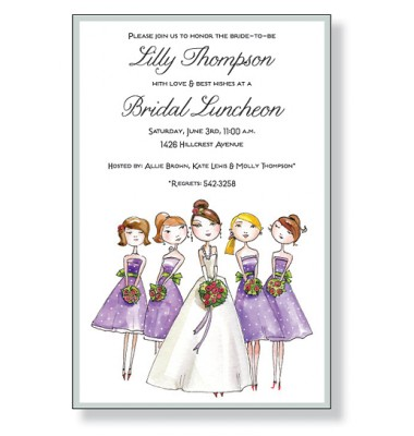 Bridal Shower Invitations, Bride And Maid, Inviting Company