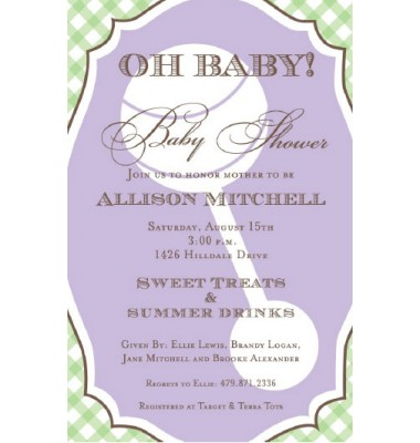 Baby Shower Invitations, Framed Rattle, Inviting Company