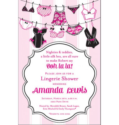 Lingerie Invitations, Lingerie String, Inviting Company